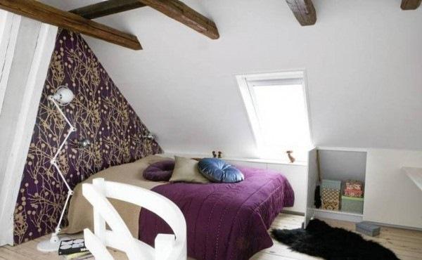 varianta amenajare dormitor mansarda