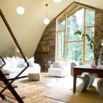 varianta amenajare living rustic modern