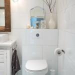 vas wc suspendat baie amenajata in stil country chic