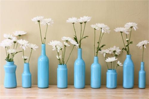 vaze flori sticle reciclate