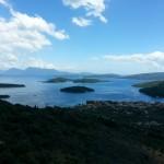 vedere Nydri din satul Karia cea mai inalta asezare locuita Lefkada
