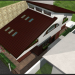 vedere lateral sus proiect casa