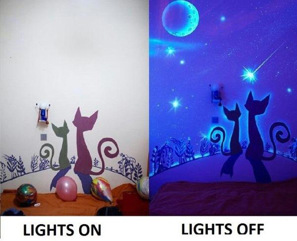vopsea acrilica luminescenta interior