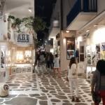zona pietonala de cumparaturi centrul Mykonos
